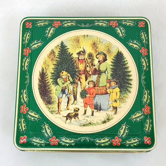 Vintage Tin box company metal made in England